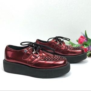 TUK Viva Creeper Faux Leather Low-Sole Shoes Sz 6